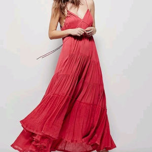 Free People Endless Summer Gauze Maxi Dress Coral